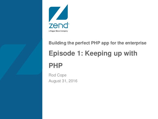 Keeping up with PHP