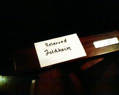 Reserved for mr feldheim