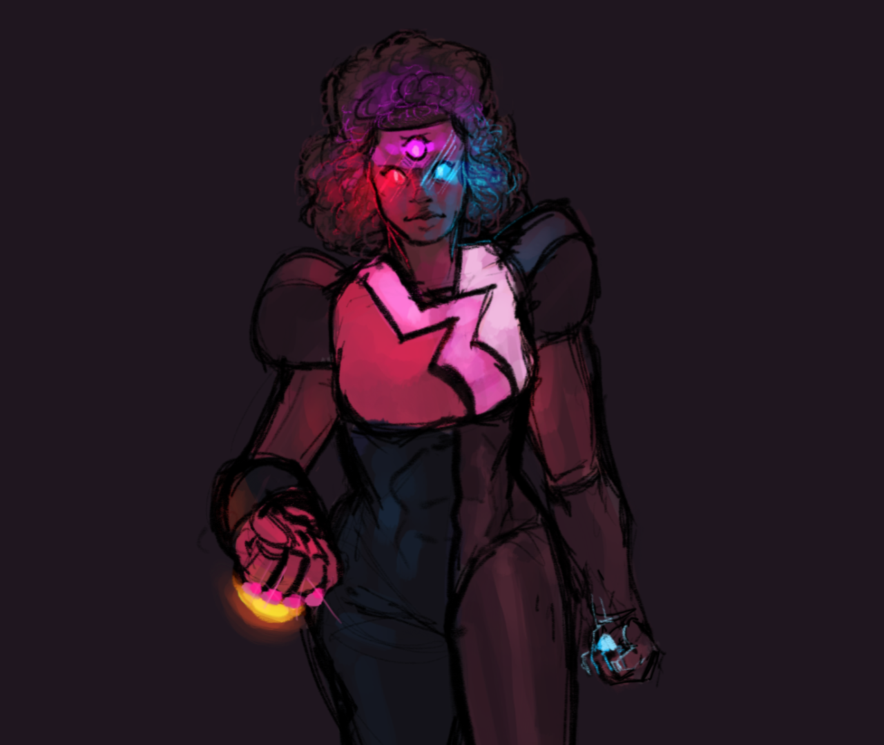 ok i'm trying to figure out how to draw the gems so here's garnet