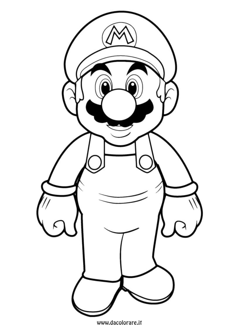 Coloriage  imprimer Personnages cél¨bres Nintendo Super Mario numéro 3311