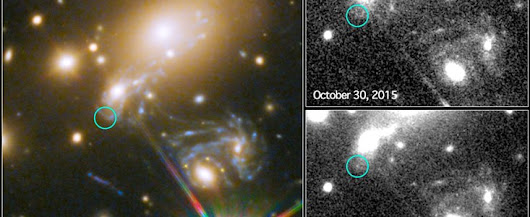 Caught in the act - Hubble captures first-ever predicted exploding star