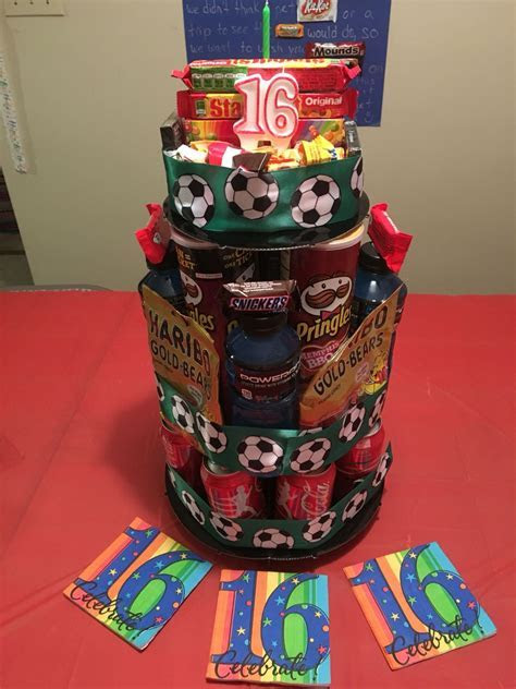 Candy & Snack Cake for a teenage boys 16th Birthday