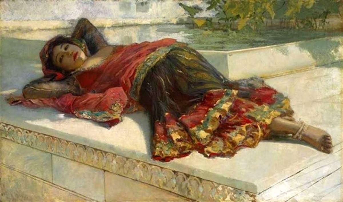 Edwin Lord Weeks (1849-1903) - Nautch Girl Resting