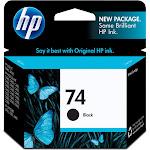 HP 74 Ink Cartridge, Black - 1-pack