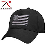 Rothco U.S. Flag Low Profile Cap Black / Silver / One Size