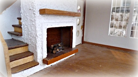 dollhouse fireplace wood floors custom