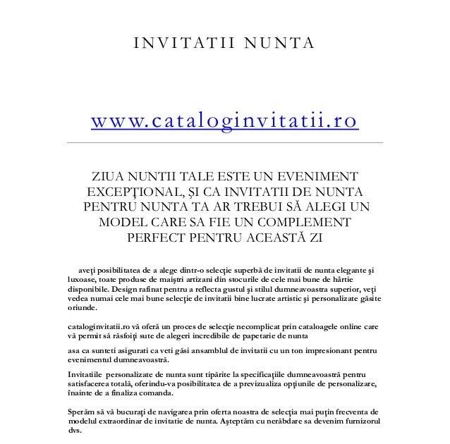 Modele De Invitatii De Nunta Cu Texte