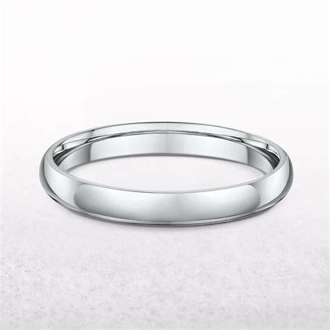 Ladies 3mm Platinum Plain Wedding Band
