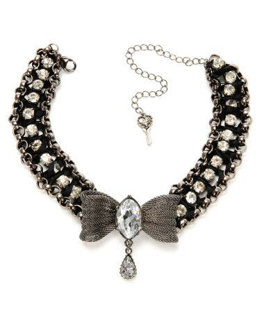 Betsey Johnson Mesh Bow Ribbon Choker