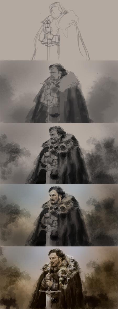 game of throne digital painting tutorial