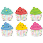 Creative Teaching Press CTP8668BN 6 in. Designer Cupcakes Cut Outs - Pack of 3, Size: One Size