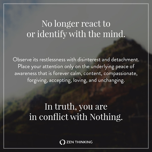 You are in conflict with Nothing