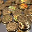 SALT LAKE CITY, UT - APRIL 26: A pile of Bitcoins are shown here after Software engineer Mike
