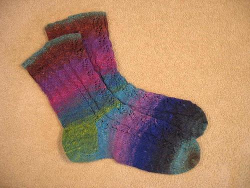 Birch Leaf socks
