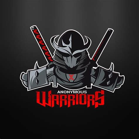 warriors anonymous mascot logo  behance logos