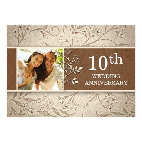 10Th Wedding Anniversary Photo Invitation Card