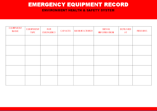 Emergency Equipment record
