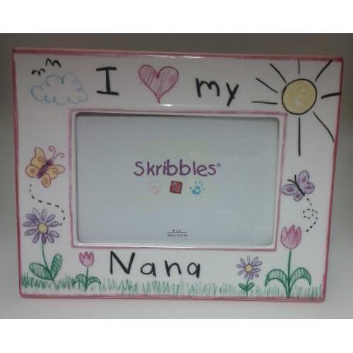 Russ Berrie Skribbles I Love My Nana Frame