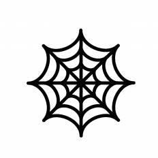 蜘蛛の巣シルエット イラストの無料ダウンロードサイトシルエットac