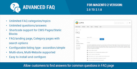 Advanced FAQ Extension For Magento 2
