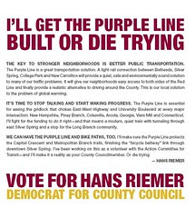 Hans Riemer, Candidate for Montgomery County Council (MD)