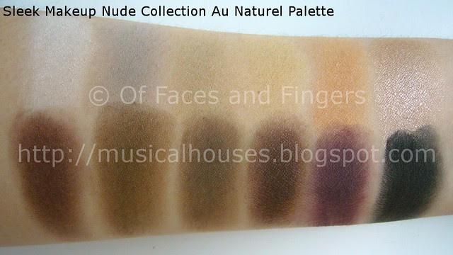 sleek au naturel palette swatches