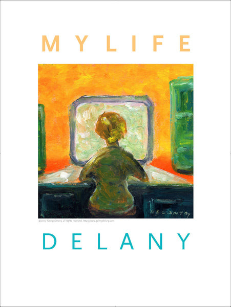 """My Life 2"" Woman Before Computer, Wall Art #514 – Gallery Delany"