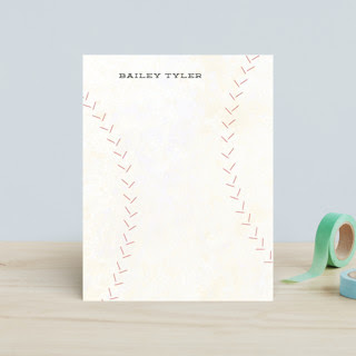Curveball Children's Personalized Stationery