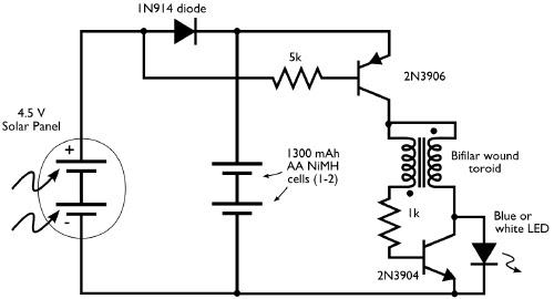 Solar Lighting Circuit Diagram / Solar Light Wiring