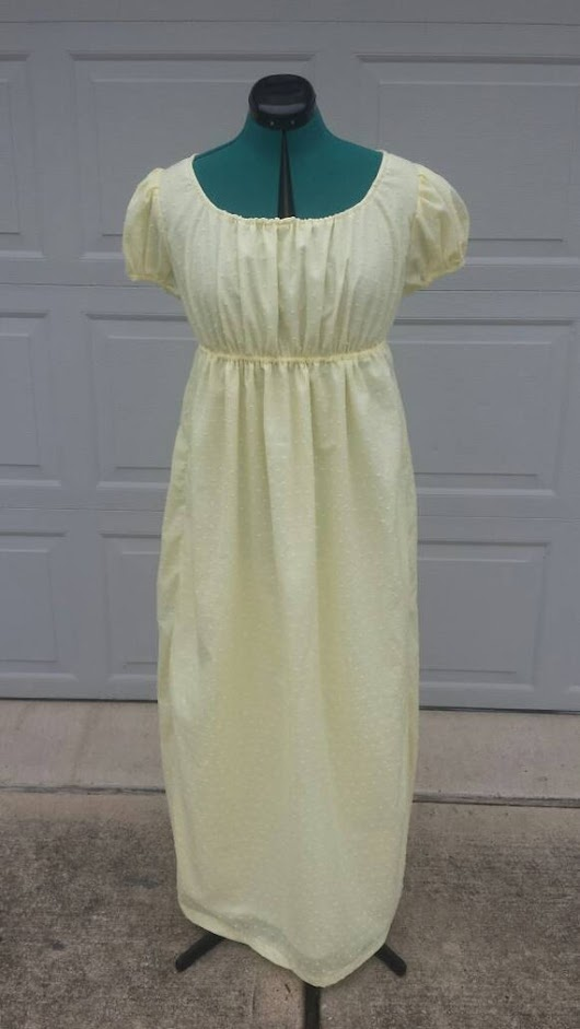 Yellow Adjustable Drawstring Regency Day by FashionsFromThePast
