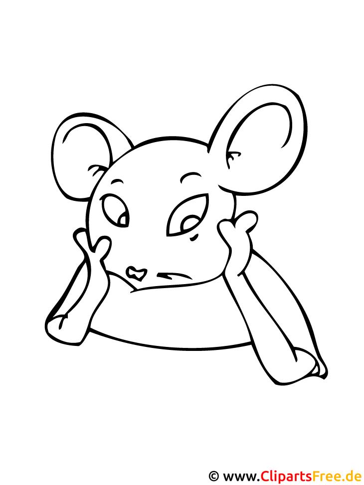 Maus Ausmalbild Tiere