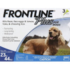 Frontline Plus Flea and Tick Control for 23-44 lbs Dogs, 3 Doses