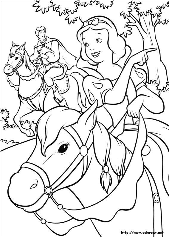 Dibujos De Blancanieves Y Los Siete Enanitos Para Colorear En