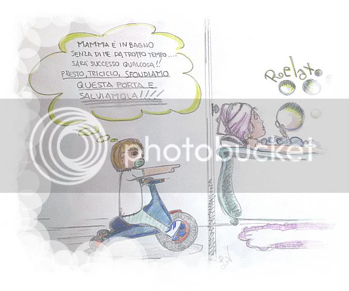 mamma in bagno