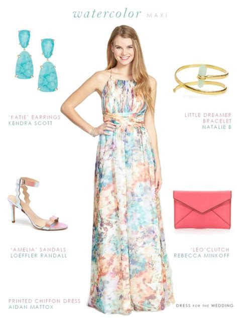 Printed Maxi Dress   Spring wedding guest dresses, Floral