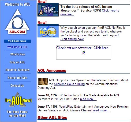 AOL in 1997