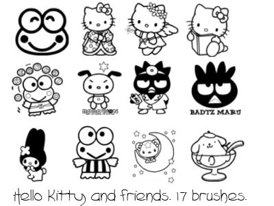 Hello kitty et les cupcakes coloring pages