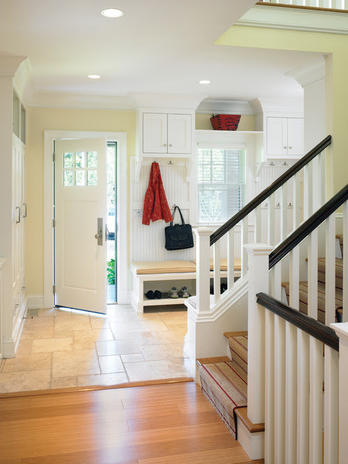 Contemporary Shingle Style Mudroom traditional entry