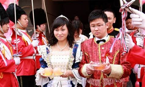 Chinese couple marry in ceremony inspired by British royal