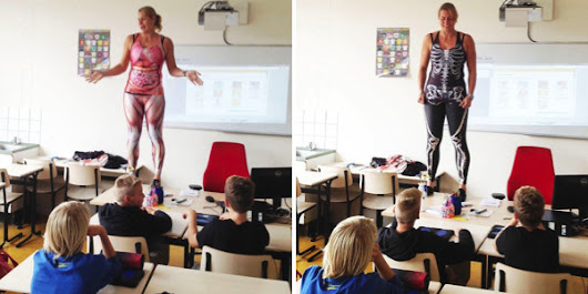 Biology Teacher Strips To Reveal Educational Body Suit, Bringing Learning Alive