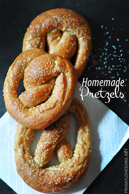 Homemade Soft Chewy Salted Pretzels - fridaylovesong.net