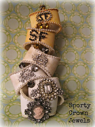Jeweled Baseball Cuffs 8