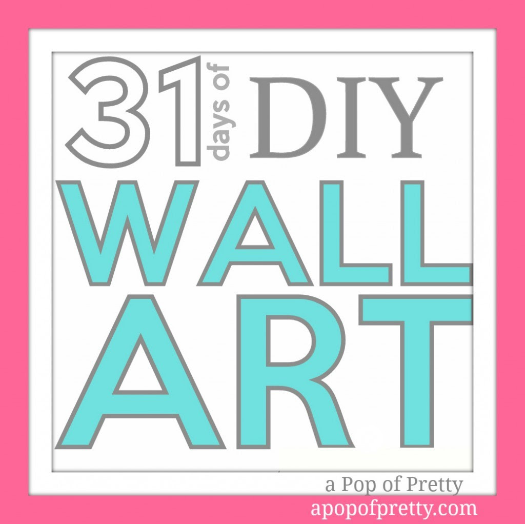 DIY Wall Art | A Pop of Pretty: Canadian Decorating Blog