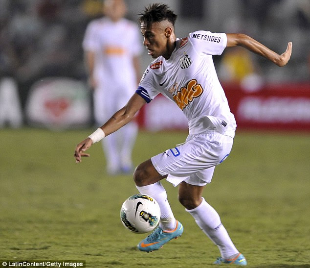 Big-money deal: Neymar is under contract at Santos until 2014 and is expected to move to Europe that summer