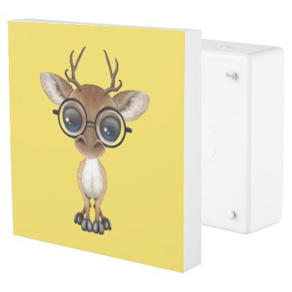 Nerdy Baby Deer Wearing Glasses Outlet Cover