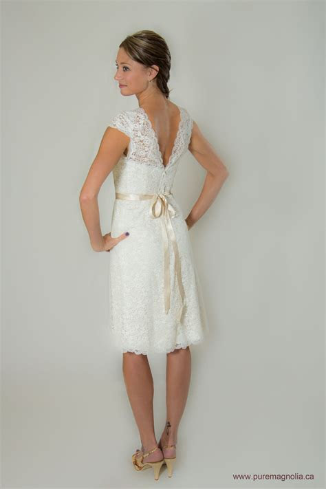 Lace Short Wedding Dress With Sleeves Low By