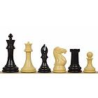 "Professional Plastic Chess Set Black & Camel Pieces - 4.125"" King"