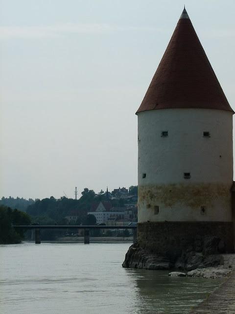 Hochwasserlinie in Passau