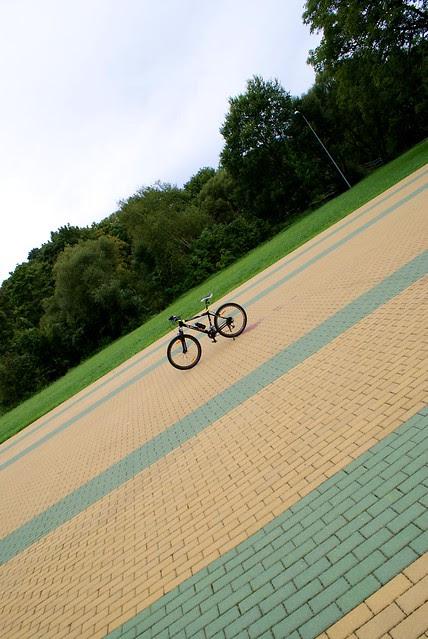 At Jurbarkas city  Kaunas - Jurbarkas with bike