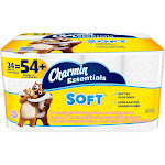 Charmin Essentials Soft Giant Toilet Paper Rolls - 24 pack, 200 sheets each